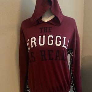 Wound Up The Struggle is Real Hoodie Size M